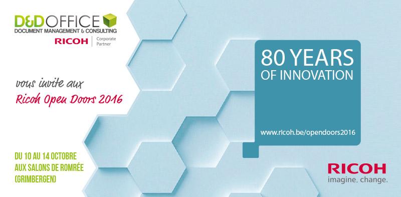 Invitation Ricoh Open Doors 2016 par D&D Office