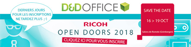 Invitation Ricoh Open Doors 2018, ne tardez plus !