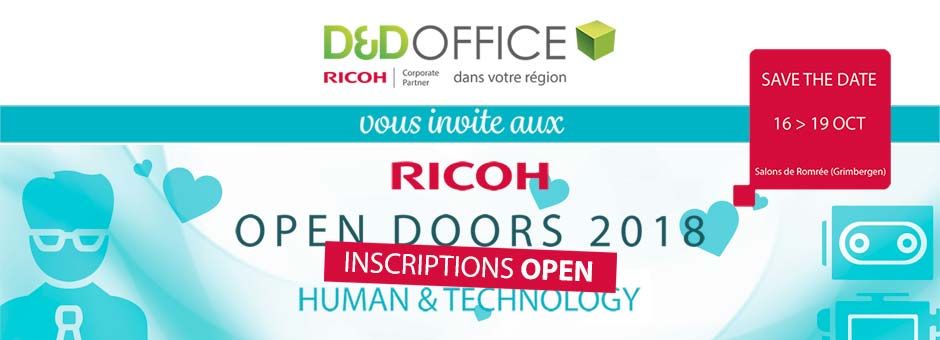 Invitation Ricoh Open Doors 2018 par D&D Office