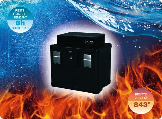 IT Security Box, cyberprotection et restauration garantie dans un coffre-fort étanche résistant 8h sous l'eau et ignifuge résistant à 843°