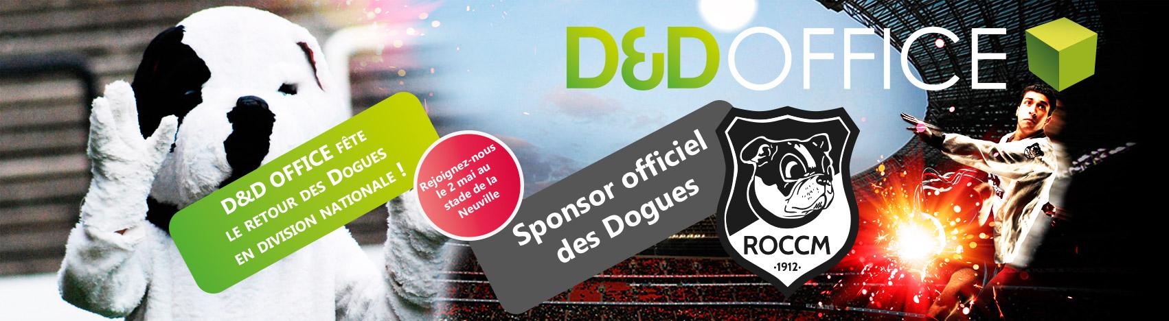 D&D Office fête le retour des Dogues en Nationale ! Rejoignez-nous ce samedi 2 mai au stade de Neuville - Sponsor Officiel du Royal Olympic de Charleroi